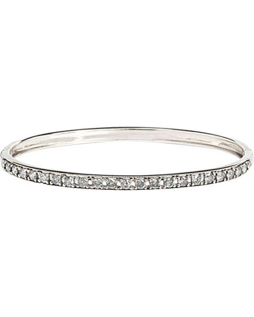 Annoushka | Dusty Diamonds 18ct White-gold And Diamond Line Bangle | Lyst