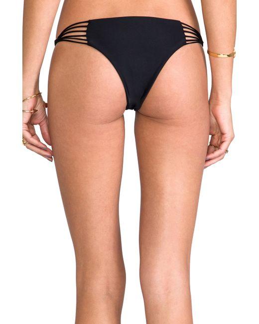 Mikoh Swimwear | Black Banyans Skinny String Racerback Top | Lyst