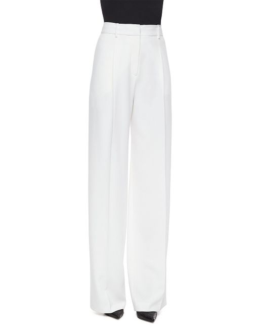 Theory   White Tyrano Wide-leg Pants   Lyst