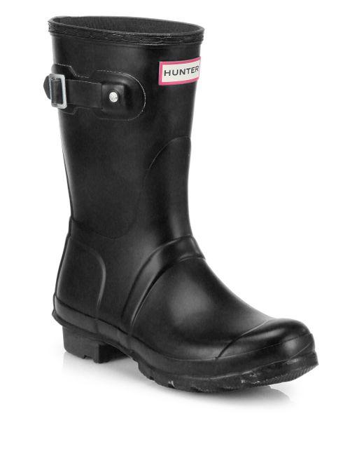 Hunter | Black Original Short Rain Boots | Lyst