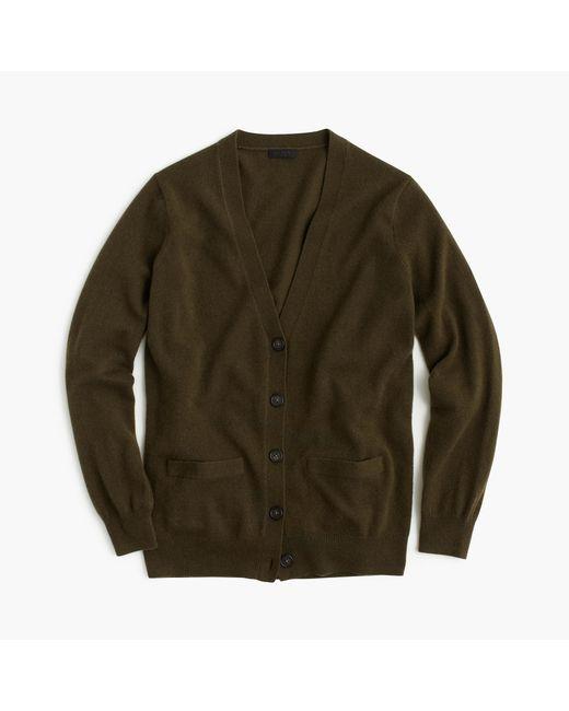 J.Crew | Natural Italian Cashmere Boyfriend Cardigan Sweater | Lyst