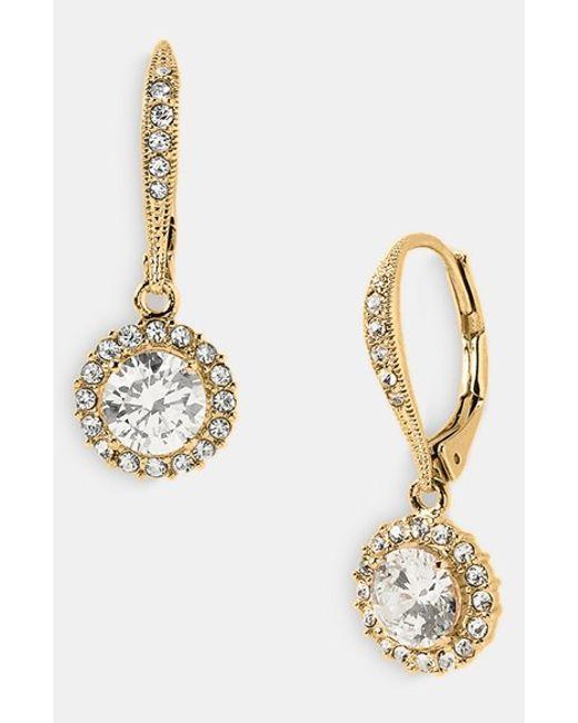 Nadri | Metallic Multi Pave-accented Cubic Zirconia Linear Drop Earrings | Lyst