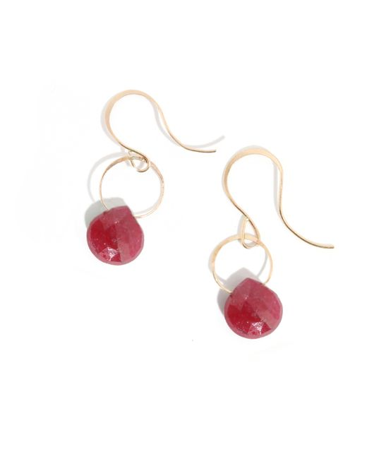 Melissa Joy Manning | Red Ruby Drop Earrings | Lyst