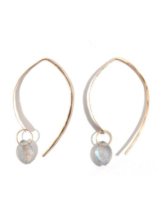 Melissa Joy Manning | Blue Labradorite Wishbone Earrings | Lyst