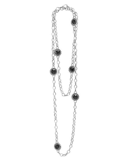 Lagos | Metallic 'maya' Long Station Necklace | Lyst