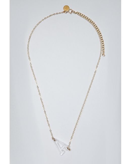 Forever 21 | Metallic Moon And Lola Acrylic Varsity A Necklace | Lyst