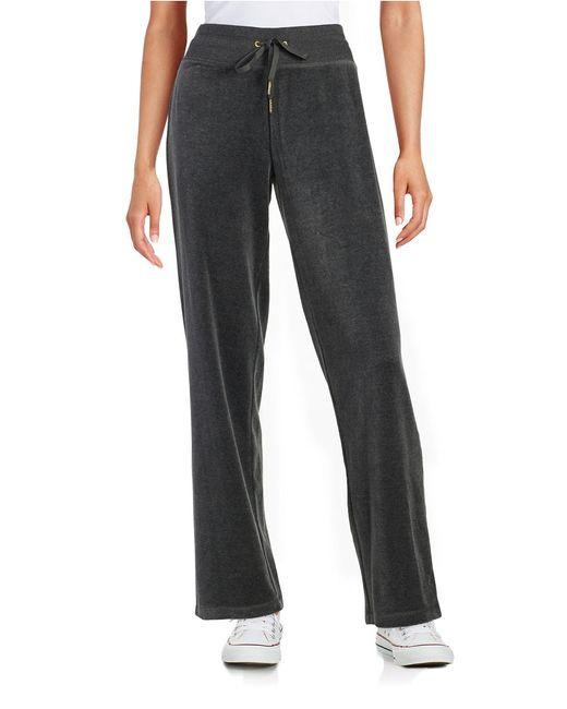 Calvin Klein | Gray Velour Sweat Pants | Lyst