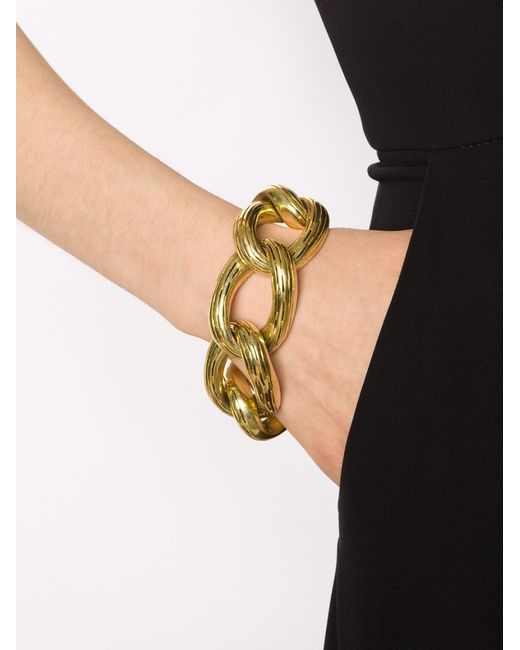 Vaubel | Metallic Oval Circle Ridge Bracelet | Lyst