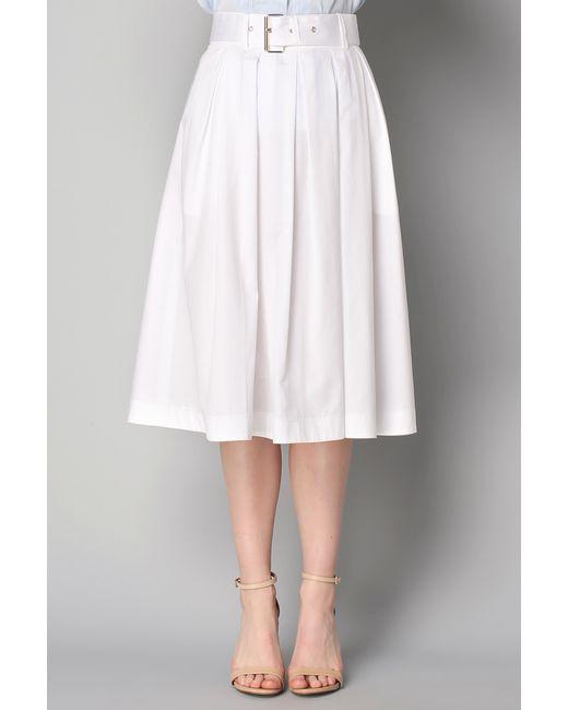tara jarmon midi skirt maxi skirt in white lyst