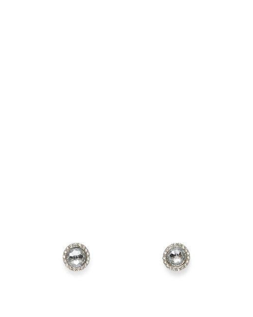Rebecca Minkoff   Metallic Crystal Halo Stud Earring   Lyst