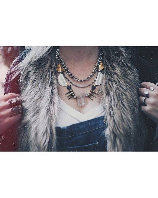Love Leather | Multicolor Party Rocked Necklace | Lyst
