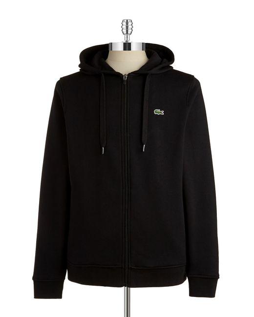 Lacoste | Black Fleece Zip Up Hoodie for Men | Lyst