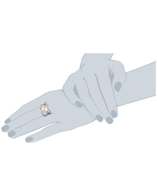 Majorica | Metallic Ribbon 12mm Rd Ring | Lyst