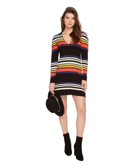 Free People - Black Gidget Sweater Mini Dress - Lyst