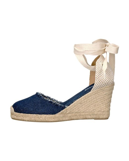 3c221c4be Lyst - Soludos Tall Wedge in Blue - Save 72%