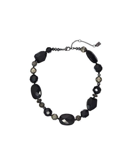 """Lauren by Ralph Lauren - Multicolor 16"""" Pyrite Beaded Collar Necklace - Lyst"""