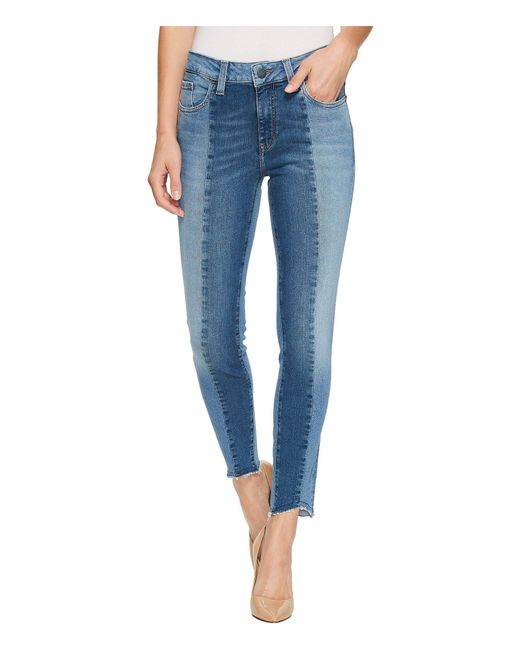 Mavi Jeans - Blue Tess High-rise Super Skinny Ankle In Mid Shaded Blocking Gold Icon - Lyst