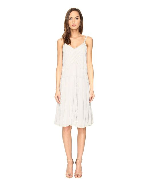 RED Valentino - White Georgette And Lace Dress - Lyst