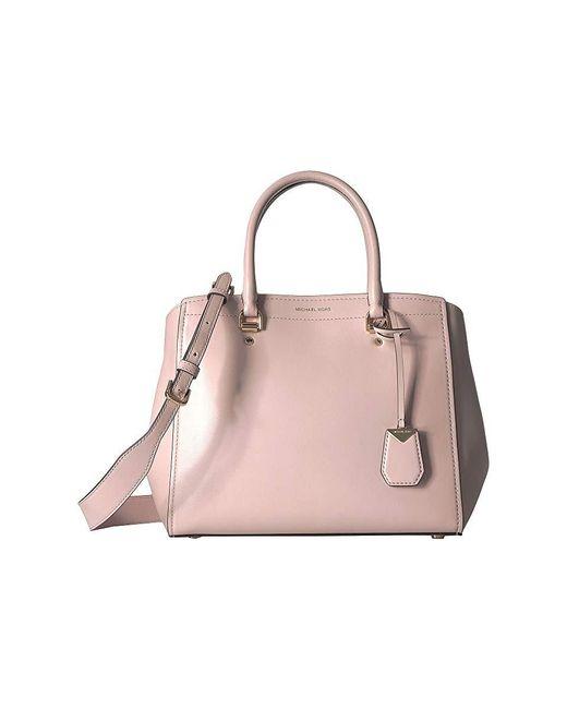 734526a5e473 MICHAEL Michael Kors - Benning Large Satchel (soft Pink) Satchel Handbags -  Lyst ...