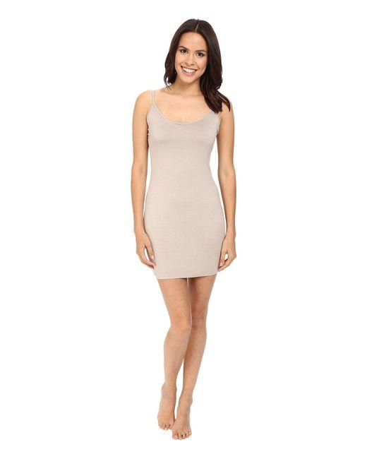 Three Dots - Multicolor Layering Slip Dress W/adjustable Straps - Lyst