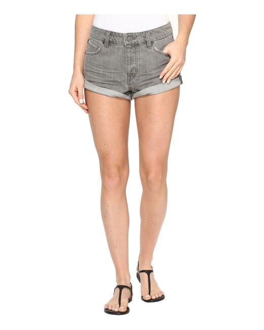 Volcom - Gray Stoned Shorts Rolled - Lyst