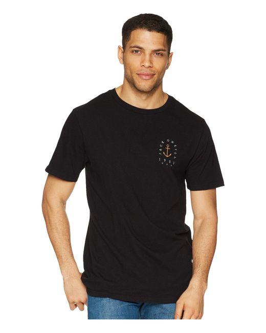 O'neill Sportswear - Black Vessel Short Sleeve Screen Tee for Men - Lyst