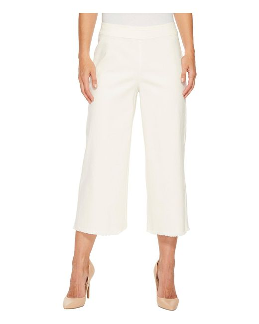 NIC+ZOE - White Stretch Denim Pants - Lyst