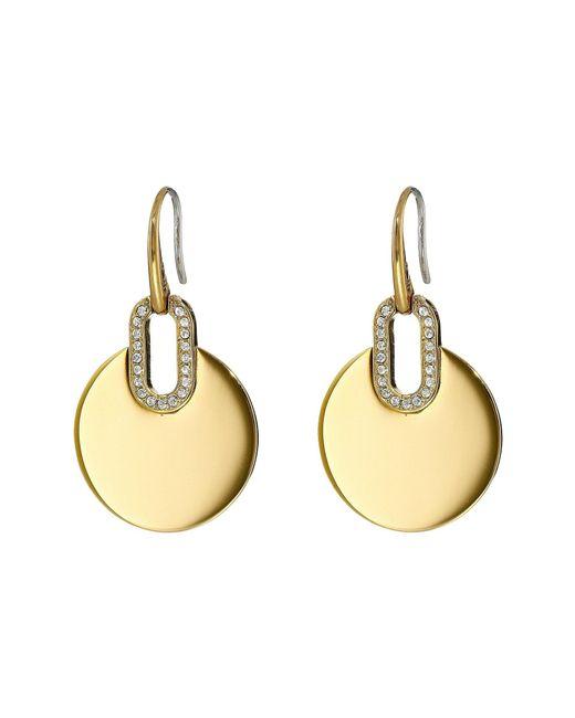 Michael Kors - Metallic Disc Drop Earrings - Lyst