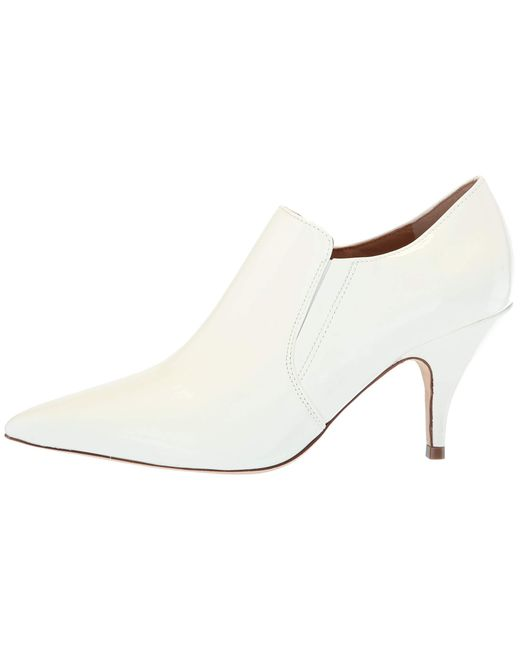 92d8ffb6052d Lyst - Tory Burch Georgina White Patent Leather Bootie in White ...