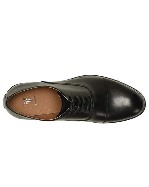cf3fa5acd91f0a Frye Scott Cap Toe (black Leather) Lace Up Casual Shoes in Black for ...