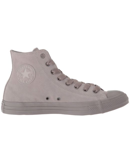 60d7ce0bf63f ... Converse - Gray Chuck Taylor All Star Tonal Suede - Hi - Lyst ...