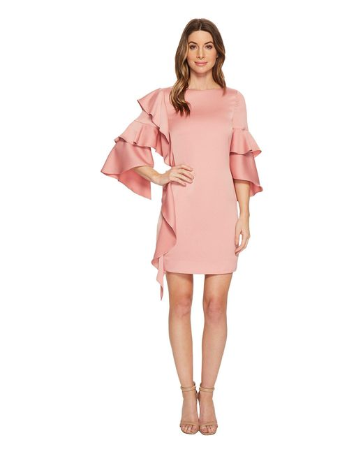 Ted Baker - Pink Eicio Frill Detail Tunic - Lyst