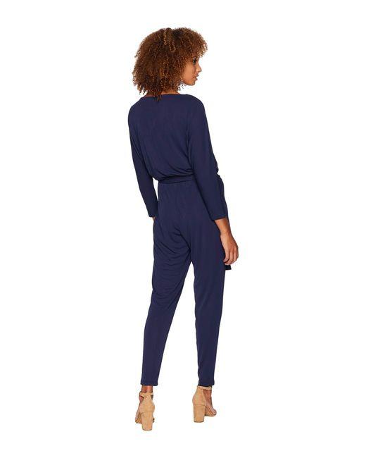 024eeccbe76 ... Lauren by Ralph Lauren - Blue Stretch Jersey Jumpsuit - Lyst ...