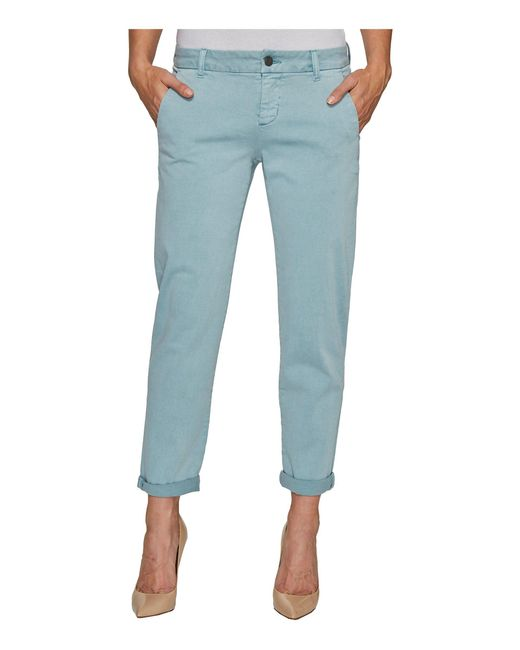 Liverpool Jeans Company - Billy Trousers Rolled-cuff In Stretch Peached Twill In Slate Blue - Lyst