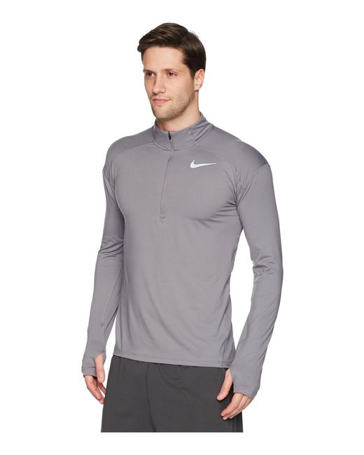 f78ed78c91896 ... Nike - Gray Dry Element 1 2 Zip Running Top for Men - Lyst ...