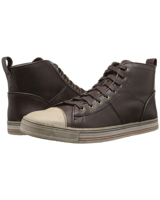 John Varvatos - Brown Mick Sneaker Hi for Men - Lyst