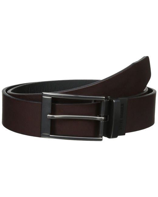 Steve Madden - Black 35mm Two-tone Leather Reversible Belt for Men - Lyst