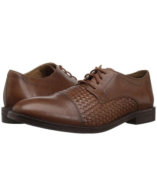 Bostonian - Brown Mckewen Cap (dark Tan Weave) Lace Up Cap Toe Shoes for Men - Lyst