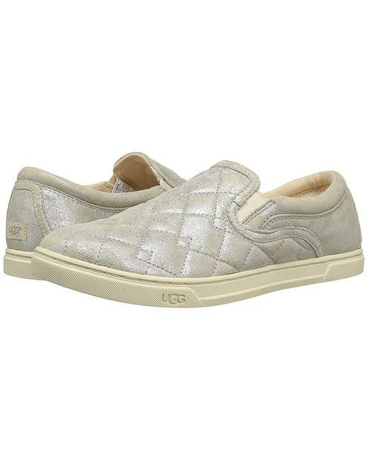 087bbe9c31051 Women's Metallic Fierce Deco Quilt Stardust (silver) Slip On Shoes