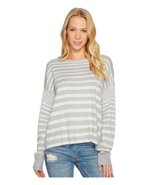 Splendid - Gray Cross-back Sweater - Lyst