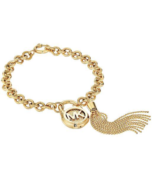 Michael Kors - Metallic Logo Link Bracelet - Lyst