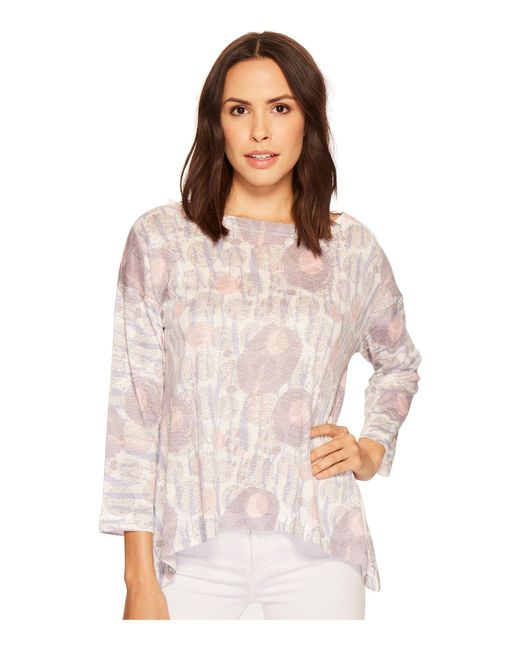 Nally & Millie - Multicolor Printed Boxy Top - Lyst