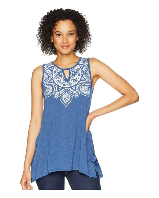 be94167357ae2f Lyst - Roper 1767 Polyester Rayon Tank Top in Blue - Save 37%