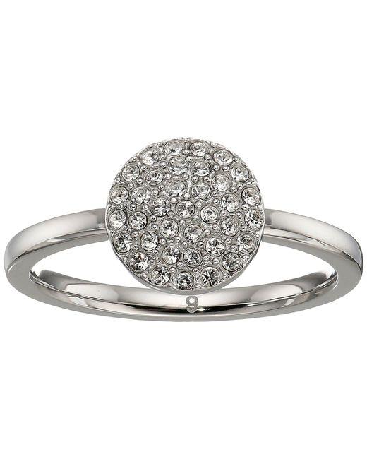 Michael Kors - Metallic Pave Circle Ring - Lyst