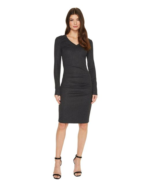 3c693490929 Lyst - Nicole Miller V-neck Basic Ponte Dress in Black - Save 63%