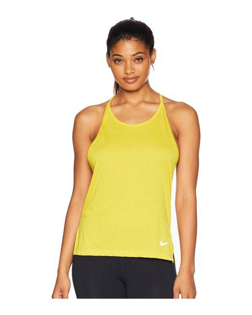 Nike - Yellow Tailwind Cool Lx Tank Top - Lyst
