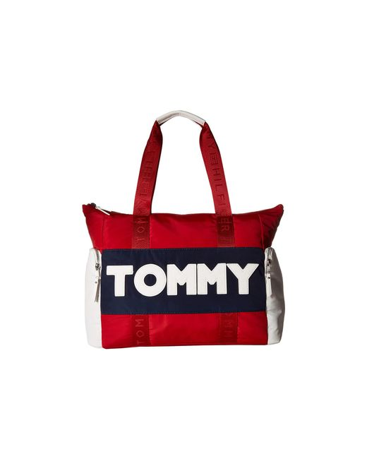 Tommy Hilfiger - Red Tommy Nylon Tote - Lyst