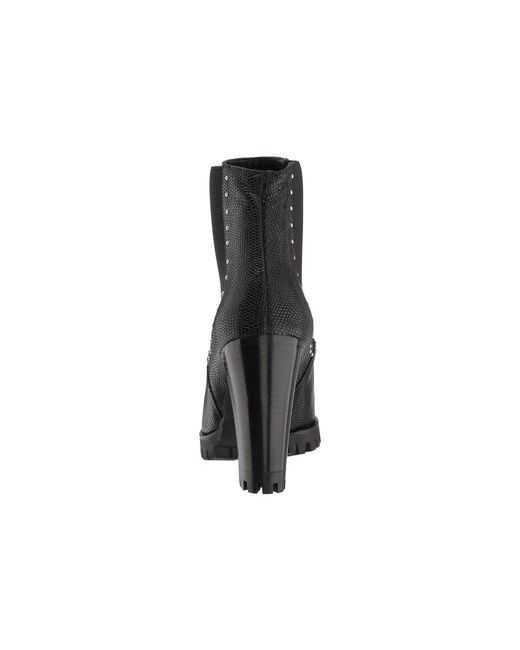 Reptile-Effect Leather Boots with Studs The Kooples F4QSiVv