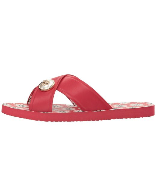 ... Tory Burch - Red Melody Sandal - Lyst ...