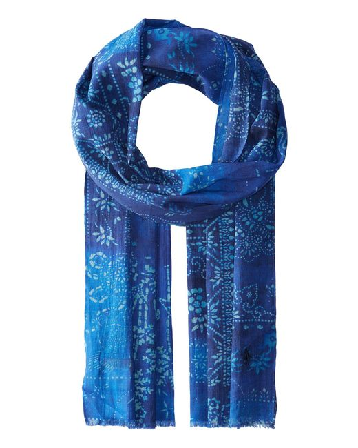 Polo Ralph Lauren - Blue Blockprint Patchwork Scarf for Men - Lyst